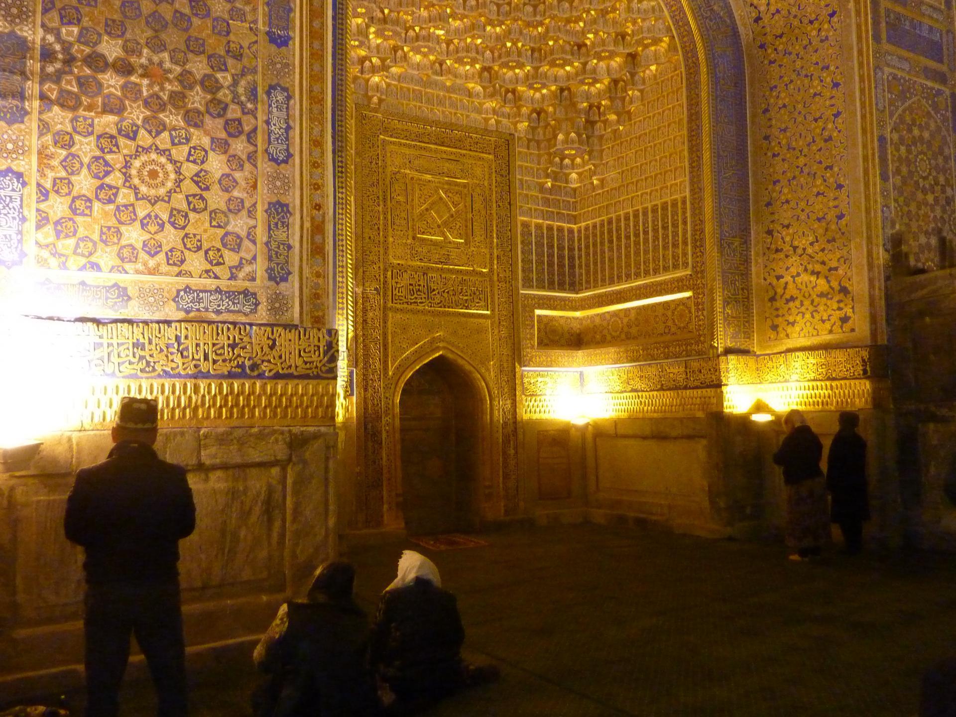 Mosquée de la Madrassa Tilya Kori à Samarkand